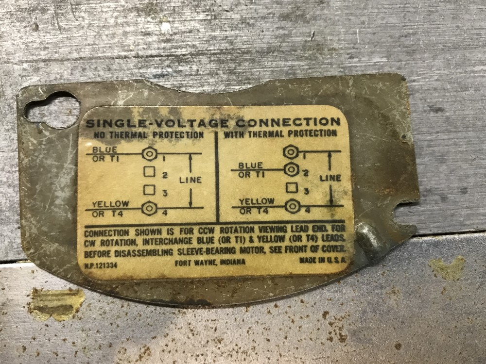 Wiring difficulties with single phase GE motor - Shopsmith Forums   Ge Motor Wiring Schematic      Shopsmith Forums