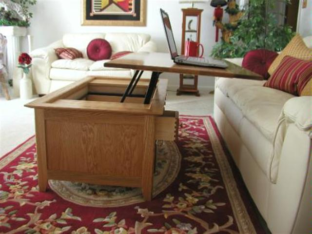 Pop Up Or Lift Top Coffee Table
